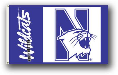 Northwestern Wildcats | 3 Ft. X 5 Ft. Flag W/Grommets