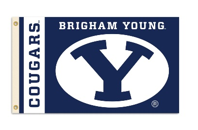 Brigham Young Cougars | 3 Ft. X 5 Ft. Flag W/Grommets