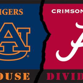 Alabama – Auburn   3 Ft. X 5 Ft. Flag W/Grommets – Rivalry House Divided