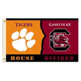 Clemson – S. Carolina | 3 Ft. X 5 Ft. Flag W/Grommets – Rivalry House Divided
