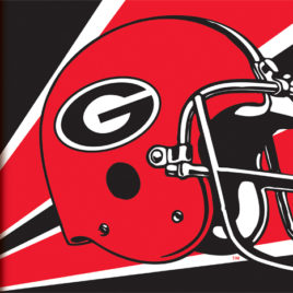 Georgia Bulldogs | 3 Ft. X 5 Ft. Flag W/Grommets – Helmet Design