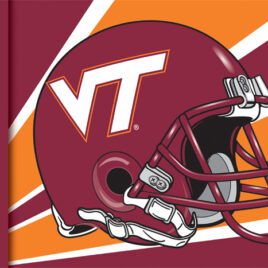Virginia Tech Hokies | 3 Ft. X 5 Ft. Flag W/Grommets – Helmet Design