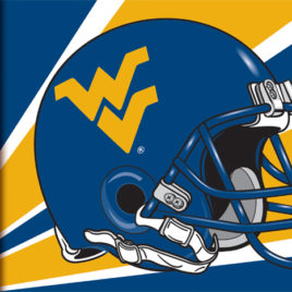 West Virginia Mountaineers | 3 Ft. X 5 Ft. Flag W/Grommets – Helmet Design