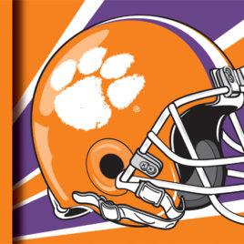 Clemson Tigers | 3 Ft. X 5 Ft. Flag W/Grommets – Helmet Design