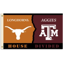 Texas – Texas A & M | 3 Ft. X 5 Ft. Flag W/Grommets – Rivalry House Divided
