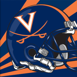 Virginia Cavaliers | 3 Ft. X 5 Ft. Flag W/Grommets – Helmet Design