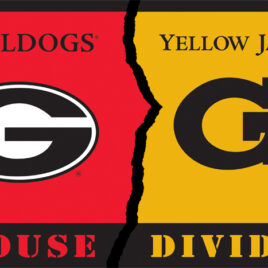 Georgia – Ga. Tech | 3 Ft. X 5 Ft. Flag W/Grommets – Rivalry House Divided