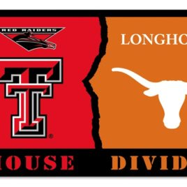 Texas Tech – Texas | 3 Ft. X 5 Ft. Flag W/Grommets – Rivalry House Divided
