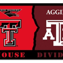 Texas Tech – Texas A & M | 3 Ft. X 5 Ft. Flag W/Grommets – Rivalry House Divided
