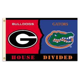 Georgia – Florida   3 Ft. X 5 Ft. Flag W/Grommets – Rivalry House Divided