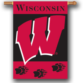 Wisconsin Badgers | 2-Sided 28″ X 40″ Banner W/ Pole Sleeve