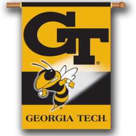 Georgia Tech Yellow Jackets | 2-Sided 28″ X 40″ Banner W/ Pole Sleeve