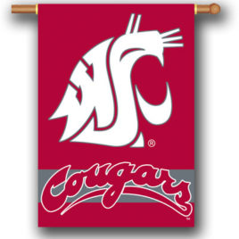 Washington State Cougars | 2-Sided 28″ X 40″ Banner W/ Pole Sleeve