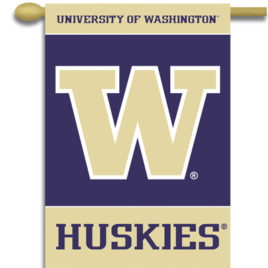 Washington Huskies | 2-Sided 28″ X 40″ Banner W/ Pole Sleeve