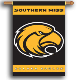 Southern Miss Golden Eagles | 2-Sided 28″ X 40″ Banner W/ Pole Sleeve