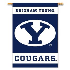 Brigham Young Cougars | 2-Sided 28″ X 40″ Banner W/ Pole Sleeve