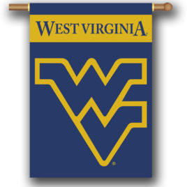 West Virginia Mountaineers | 2-Sided 28″ X 40″ Banner W/ Pole Sleeve