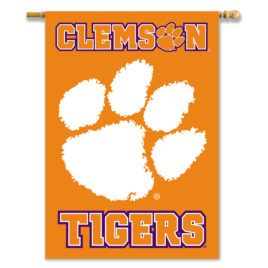 Clemson Tigers | 2-Sided 28″ X 40″ Banner W/ Pole Sleeve