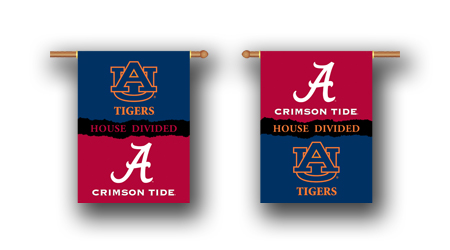 Alabama – Auburn | 2-Sided 28″ X 40″ Banner W/ Pole Sleeve House Divided