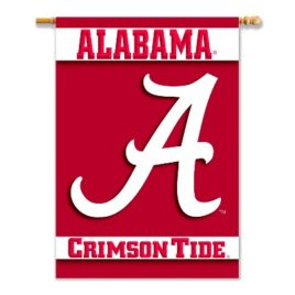 Alabama Crimson Tide   2-Sided 28″ X 40″ Banner W/ Pole Sleeve