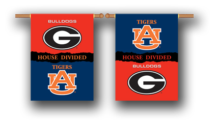Georgia – Auburn | 2-Sided 28″ X 40″ Banner W/ Pole Sleeve House Divided