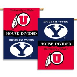 BYU – Utah | 2-Sided 28″ X 40″ Banner W/ Pole Sleeve House Divided