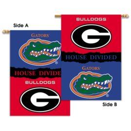 Georgia – Florida   2-Sided 28″ X 40″ Banner W/ Pole Sleeve House Divided