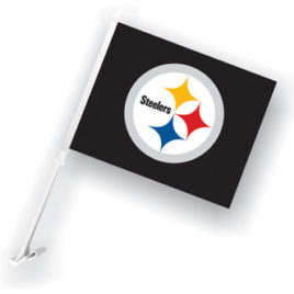 Pittsburgh Steelers | Car Flag W/Wall Brackett