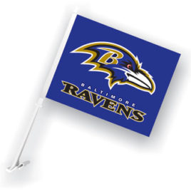 Baltimore Ravens | Car Flag W/Wall Brackett