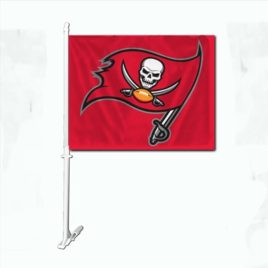 Tampa Bay Bucaneers | Car Flag W/Wall Brackett