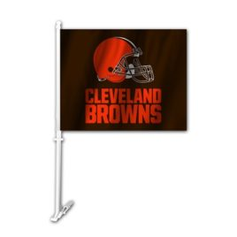 Cleveland Browns | Car Flag W/Wall Brackett