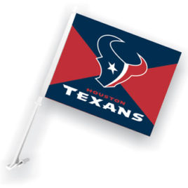 Houston Texans | Car Flag W/Wall Brackett