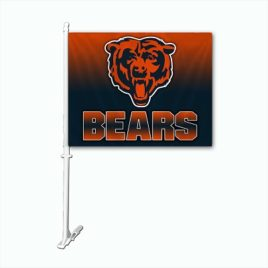 Chicago Bears | Car Flag W/Wall Brackett