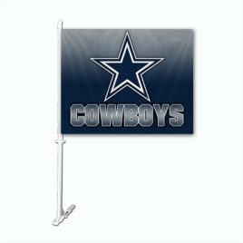 Dallas Cowboys | Car Flag W/Wall Brackett
