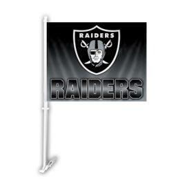 Oakland Raiders | Car Flag W/Wall Brackett