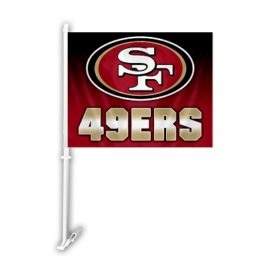 San Francisco 49Ers | Car Flag W/Wall Brackett