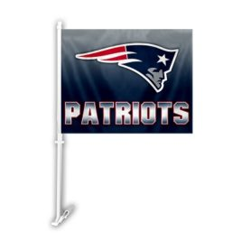 New England Patriots | Car Flag W/Wall Brackett