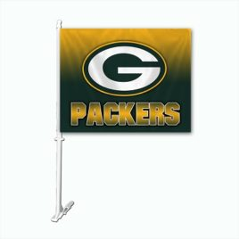 Green Bay Packers | Car Flag W/Wall Brackett