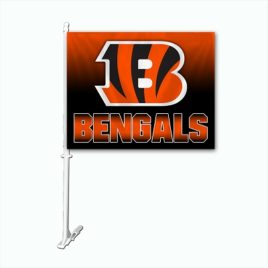 Cincinnati Bengals | Car Flag W/Wall Brackett