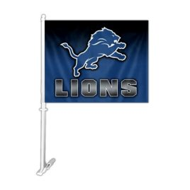 Detroit Lions | Car Flag W/Wall Brackett