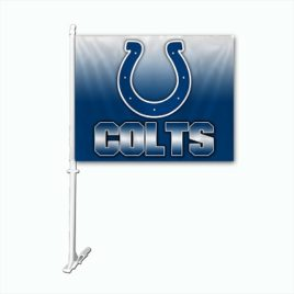 Indianapolis Colts | Car Flag W/Wall Brackett