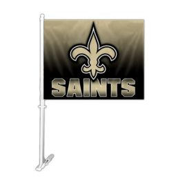 New Orleans Saints | Car Flag W/Wall Brackett