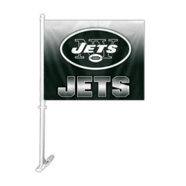 New York Jets | Car Flag W/Wall Brackett