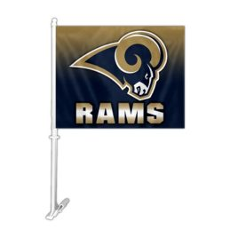 St. Louis Rams | Car Flag W/Wall Brackett