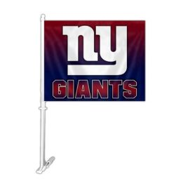New York Giants | Car Flag W/Wall Brackett