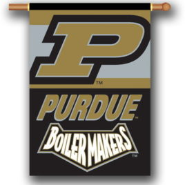 Purdue Boilermakers | 2-Sided 28″ X 40″ Banner W/ Pole Sleeve