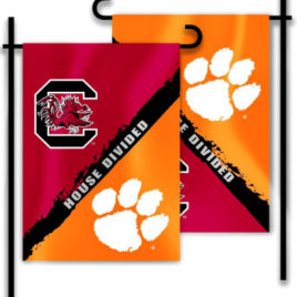 Clemson – S. Carolina | 2-Sided Garden Flag – Rivalry House Divided