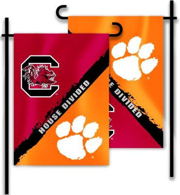 Clemson U2013 S. Carolina | 2 Sided Garden Flag U2013 Rivalry House Divided