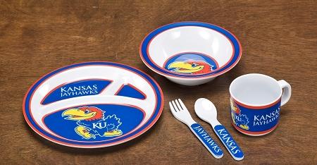 Kansas Jayhawks | Kid's 5 Pc. Dish Set