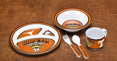 Texas Longhorns | Kid's 5 Pc. Dish Set